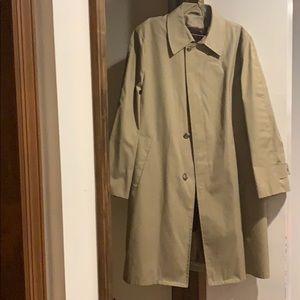 Men's beige trench coat